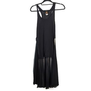 Jean Paul Gaultier Black High Low Tank Tunic Dress